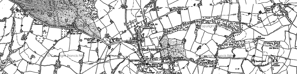 Old map of Rolvenden in 1896