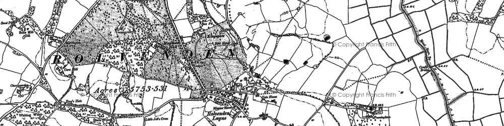Old map of Wittersham Road Sta in 1906