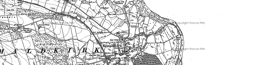 Old map of Romaldkirk in 1913