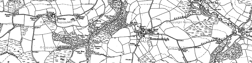Old map of Langley in 1887