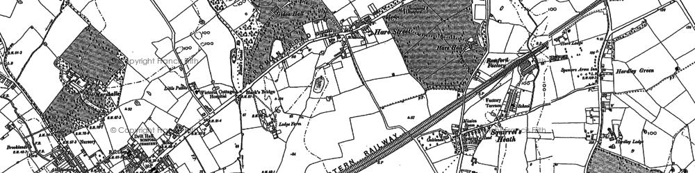 Old map of Romford in 1895