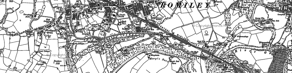Old map of Romiley in 1897