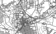 Old Map of Romsey, 1895