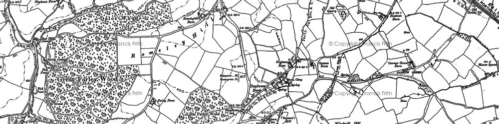 Old map of Windmill Hill in 1882
