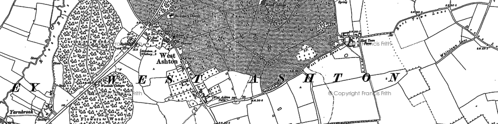 Old map of East Town in 1899
