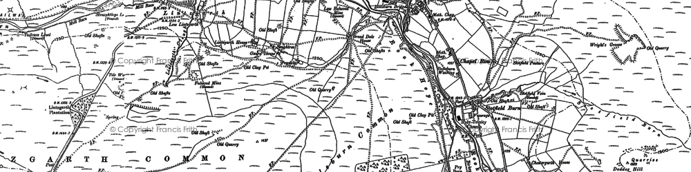 Old map of Bank Foot in 1895