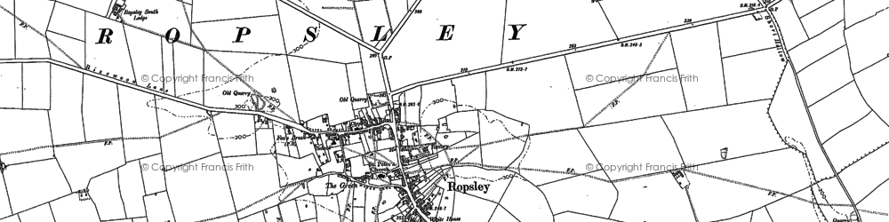Old map of Abney Wood in 1885
