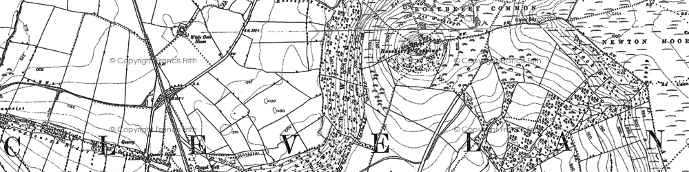 Old map of Roseberry Topping in 1892