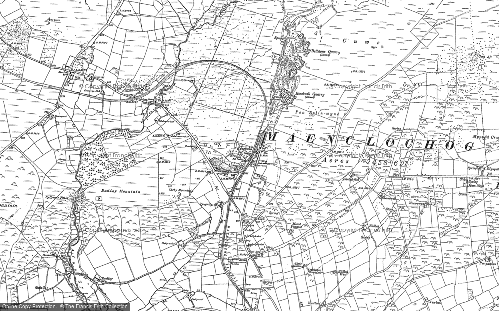 Old Map of Historic Map covering Banc Du in 1888