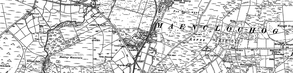 Old map of Banc Du in 1888