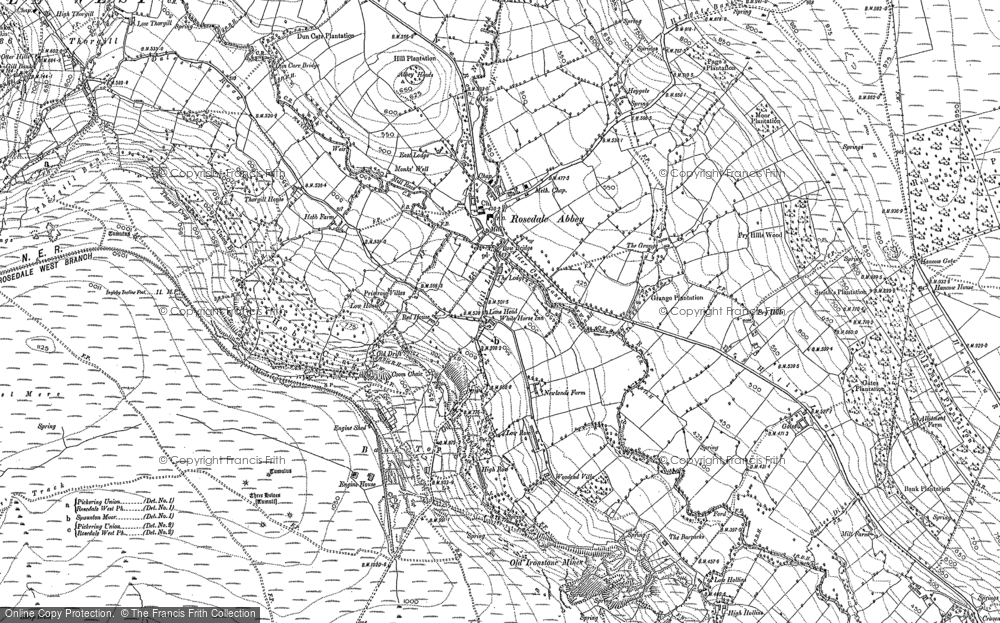 Old Map of Historic Map covering Bank Top in 1891