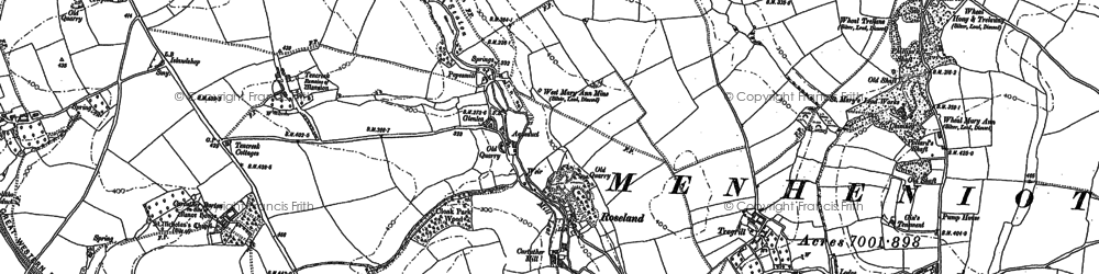 Old map of Roseland in 1882