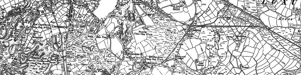 Old map of Rosevean in 1881