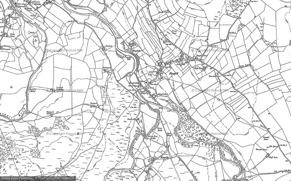 Old Map of Historic Map covering Toathmain in 1897