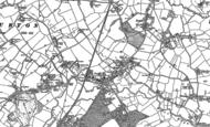 Old Map of Rossett, 1909