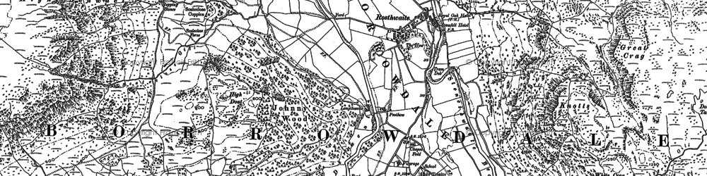 Old map of Langstrath Beck in 1898