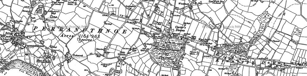 Old map of Rosudgeon in 1907