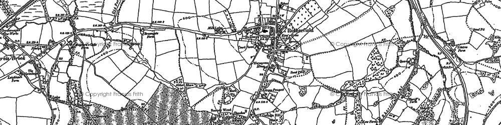 Old map of Rotherfield in 1897