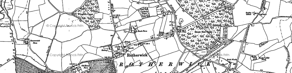 Old map of Rotherwick in 1894