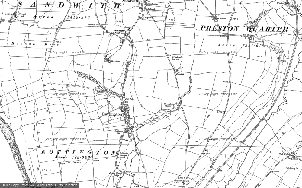Old Map of Historic Map covering Tomlin in 1923