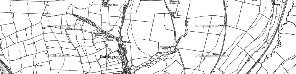 Old map of Tomlin in 1923