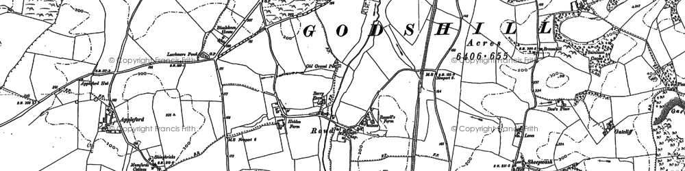 Old map of Wydcombe in 1907