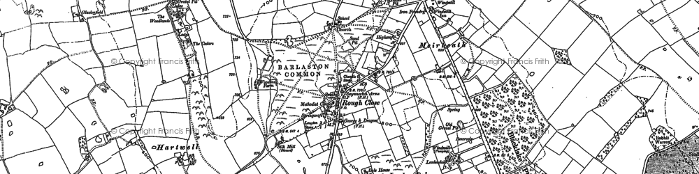 Old map of Leadendale in 1877