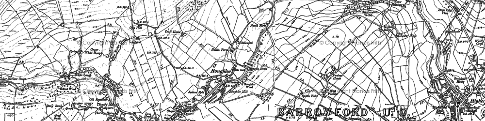 Old map of Roughlee in 1891