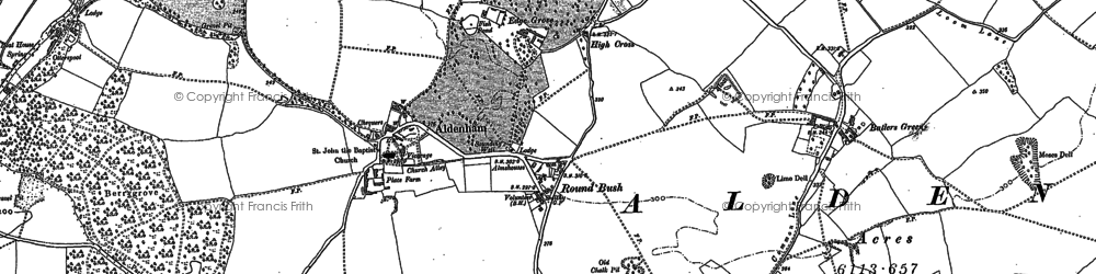 Old map of High Cross in 1896