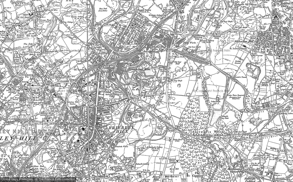 Old Map of Round Oak, 1901 in 1901