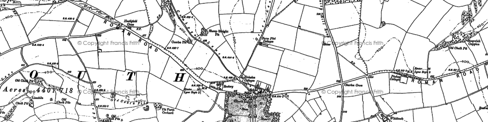 Old map of Westhayes in 1903
