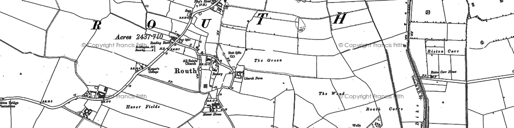 Old map of Leven Canal in 1850