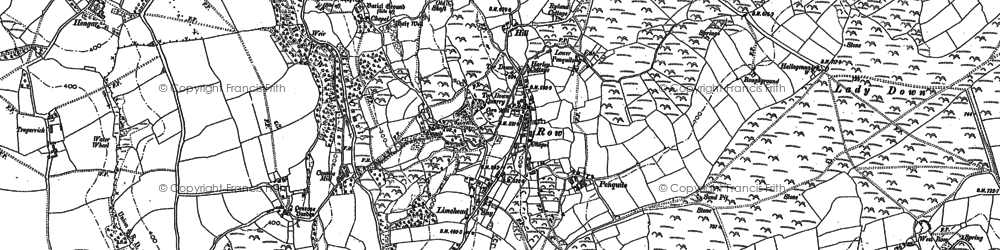 Old map of Row in 1880