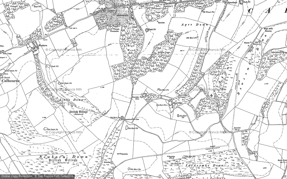Old Map of Historic Map covering Ashengrove in 1907