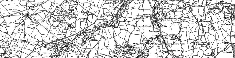 Old map of White Hart in 1887