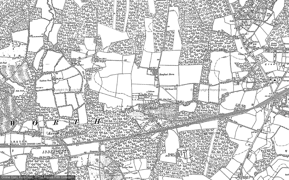 Old Map of Historic Map covering Ley House in 1909