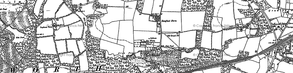 Old map of Worth Hall in 1909