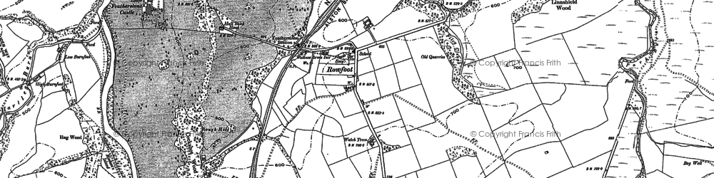 Old map of Lanehead in 1895
