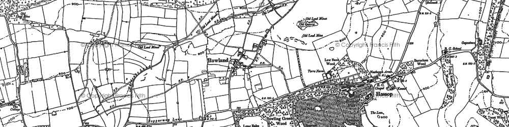 Old map of Rowland in 1878