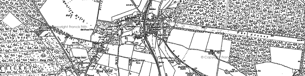 Old map of Rowlands Castle in 1910