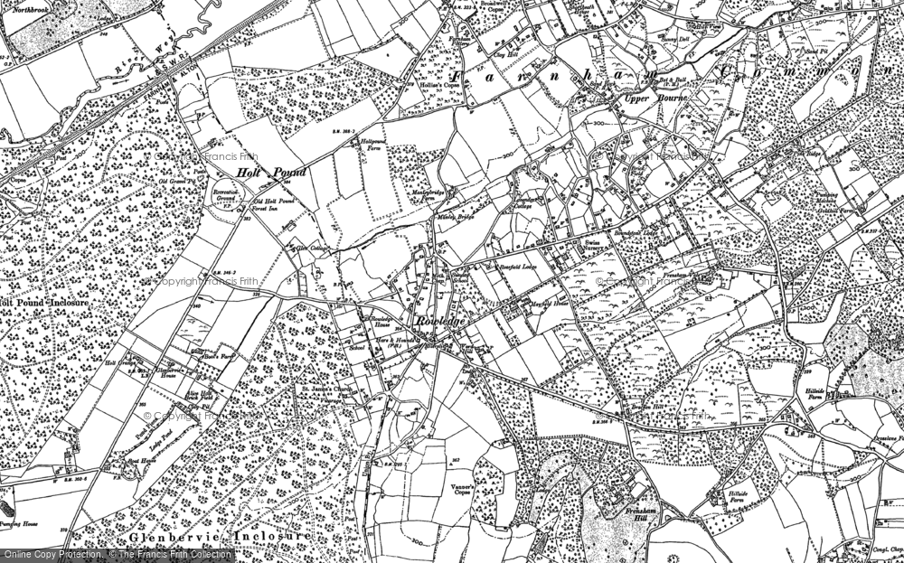 Old Map of Rowledge, 1913 in 1913