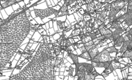 Old Map of Rowledge, 1913