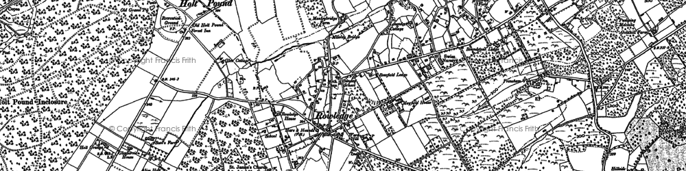 Old map of West End in 1913