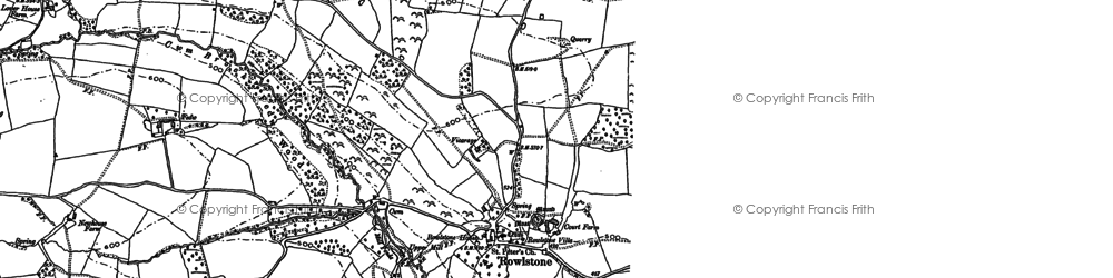 Old map of Ball's Cross in 1887