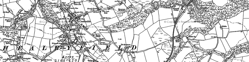 Old map of Whitehall Moss in 1895