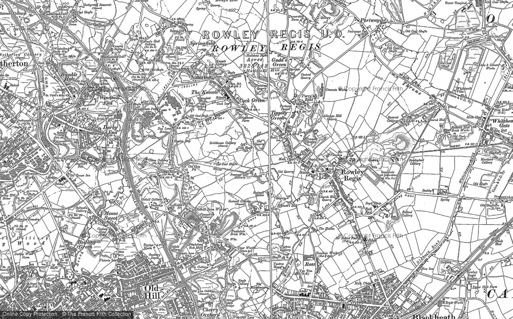 Old Map of Rowley Regis, 1901 - 1902 in 1901