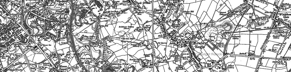 Old map of Rowley Regis in 1901