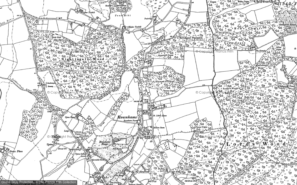 Old Map of Historic Map covering Aldermoor in 1895