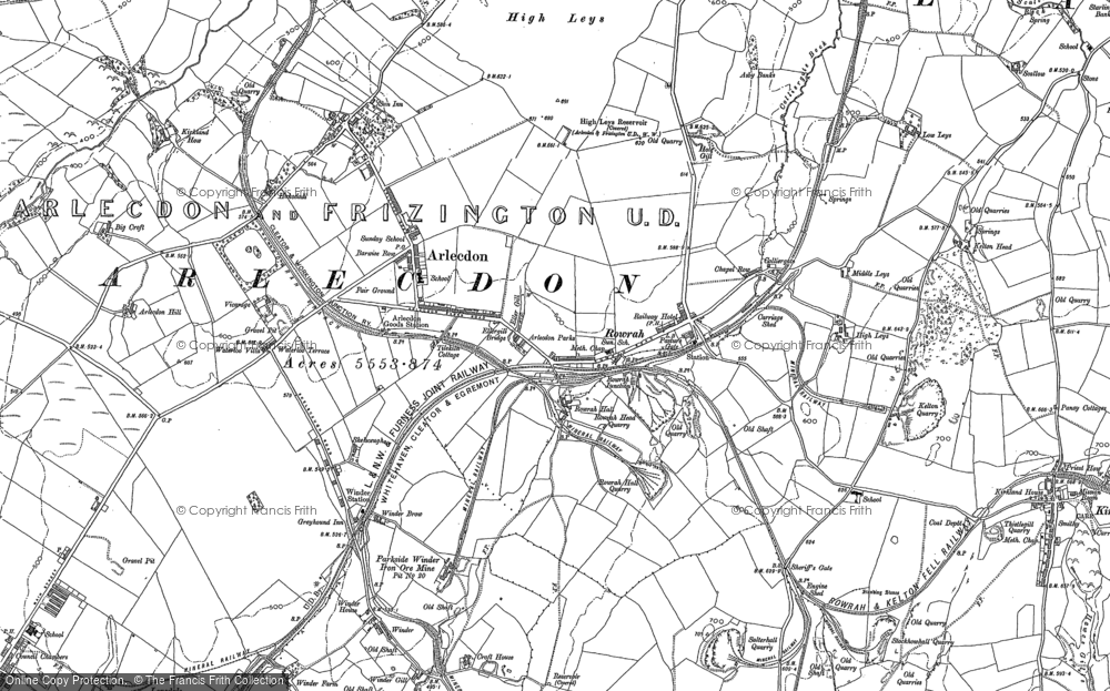 Old Map of Historic Map covering Leys in 1898