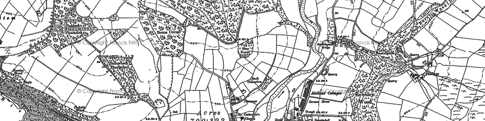 Old map of Lees Moor Wood in 1878